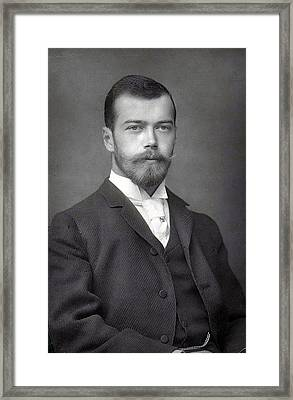 Nicholas II From Russia Framed Print by Steve K