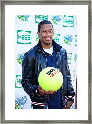 Nick Cannon At A Public Appearance Framed Print by Everett