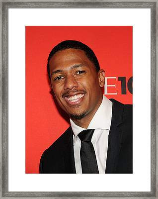 Nick Cannon At Arrivals For Time 100 Framed Print by Everett