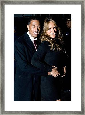 Nick Cannon, Mariah Carey At Arrivals Framed Print by Everett