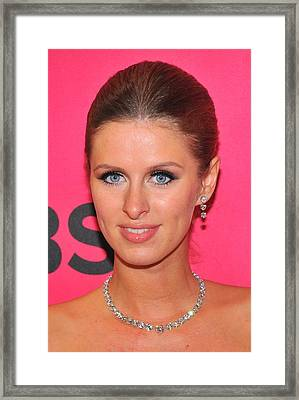 Nicky Hilton Wearing A Mouawad Necklace Framed Print by Everett