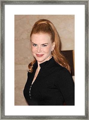 Nicole Kidman At In-store Appearance Framed Print by Everett