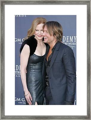 Nicole Kidman, Keith Urban At Arrivals Framed Print by Everett