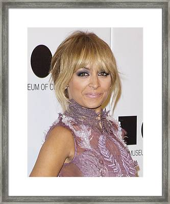 Nicole Richie At Arrivals For 2011 Moca Framed Print by Everett