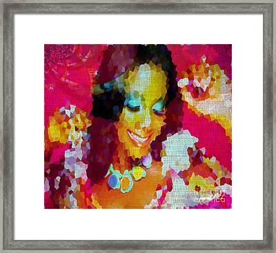 Nigerian Girl Framed Print by Fania Simon