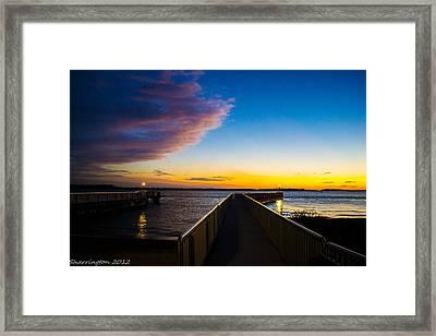 Night Approaches Framed Print by Shannon Harrington