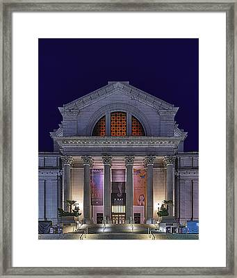 Night At The Museum Framed Print by Metro DC Photography