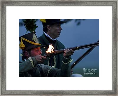 Night Battle Framed Print by JT Lewis