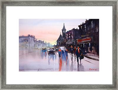 Night Fall - Berlin Framed Print by Ryan Radke