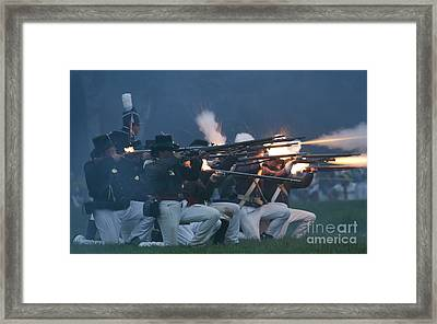 Night Firing Framed Print by JT Lewis