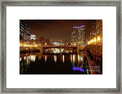Night Lights Framed Print by David Bearden