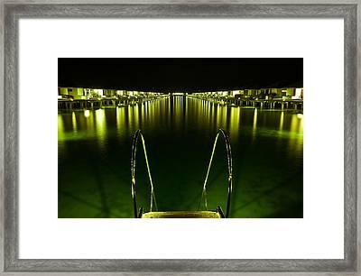 Night. One Day In Paradise. Maldives Framed Print by Jenny Rainbow