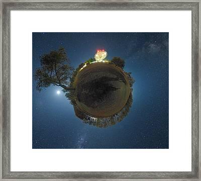 Night Sky Over Parkes Observatory Framed Print by Alex Cherney, Terrastro.com