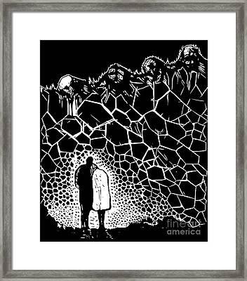 Night Walk Framed Print by Dariusz Gudowicz
