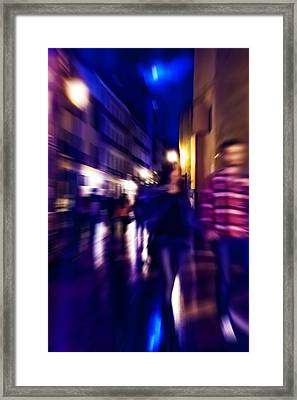 Night Walk. Tnm Framed Print by Jenny Rainbow