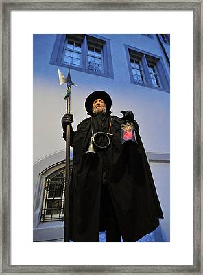 Night Watchman Framed Print by Matthias Hauser