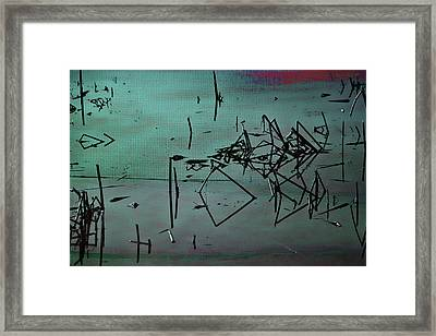 Nightfall Over The Wetlands Framed Print by Bonnie Bruno