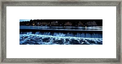 Nighttime At Boathouse Row Framed Print by Bill Cannon