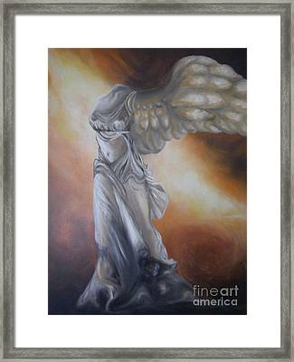 Nike Framed Print by GLORY-AN Art Gallery