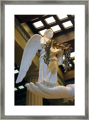 Nike Goddess Of Victory Framed Print by Linda Phelps