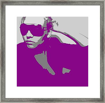Niki In Glasses  Framed Print by Naxart Studio