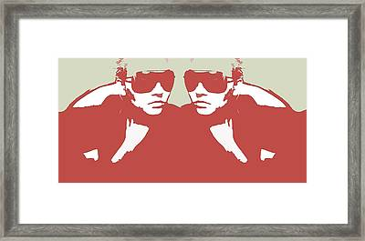 Niki In Mirror Framed Print by Naxart Studio