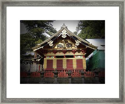 Nikko Architecture With Gold Roof Framed Print by Naxart Studio