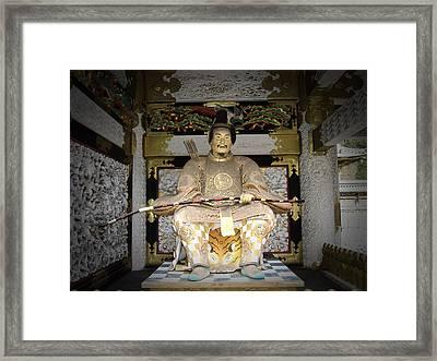 Nikko Golden Sculpture Front Framed Print by Naxart Studio