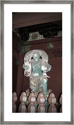Nikko Green Figure Framed Print by Naxart Studio