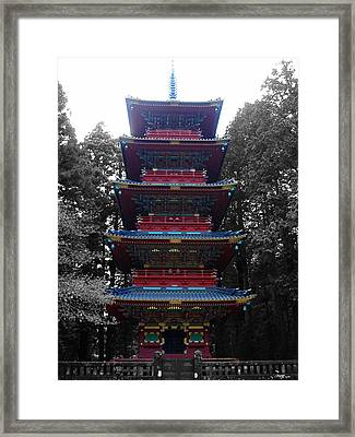 Nikko Pagoda Framed Print by Naxart Studio