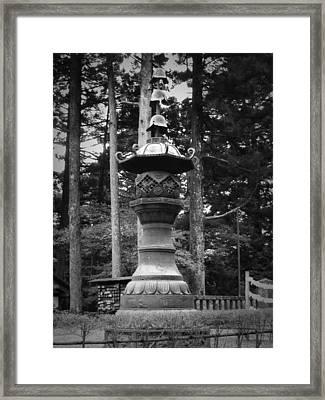 Nikko Sculpture Framed Print by Naxart Studio