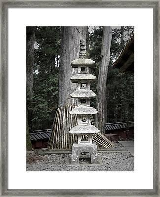 Nikko Temple Sculptures Framed Print by Naxart Studio