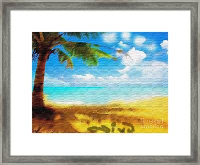 Nixo Landscape Beach Framed Print by Nicholas Nixo