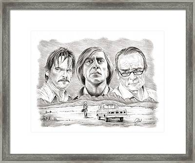 No Country For Old Men Framed Print by Jamie Warkentin