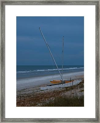 No Sailing Today Framed Print by DigiArt Diaries by Vicky B Fuller