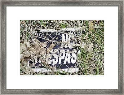 No Trespassing Framed Print by LeeAnn McLaneGoetz McLaneGoetzStudioLLCcom