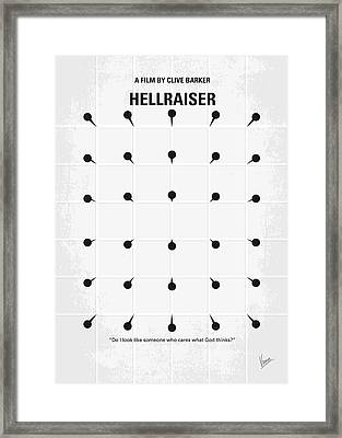 No033 My Hellraiser Minimal Movie Poster.jpg Framed Print by Chungkong Art