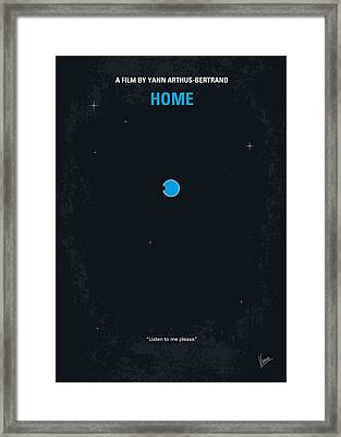 No037 My Home Minimal Movie Poster Framed Print by Chungkong Art