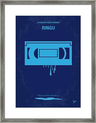 No070 My Ringu Minimal Movie Poster Framed Print by Chungkong Art
