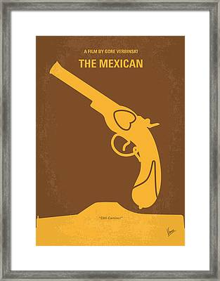 No077 My The Mexican Minimal Movie Poster Framed Print by Chungkong Art