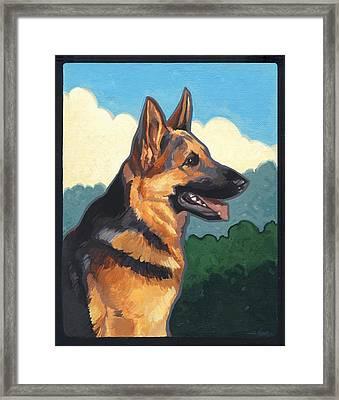 Noble German Shepherd Dog Framed Print by Shawn Shea