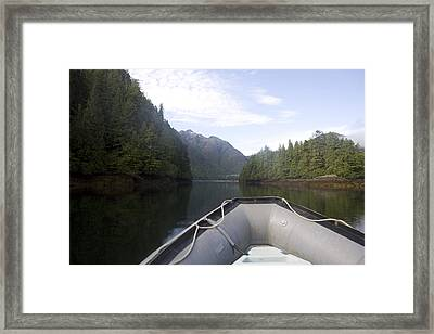 Nobody,boats, Ropes, Islands,horizontal Framed Print by Taylor S. Kennedy