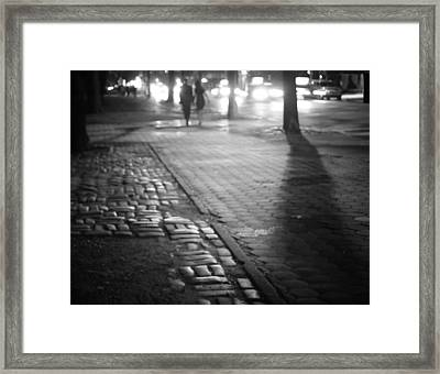 Nocturne - Night - New York City Framed Print by Vivienne Gucwa