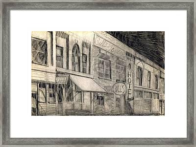 Noir Street Framed Print by Mel Thompson