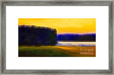 Nordic Lightscape Framed Print by Lutz Baar