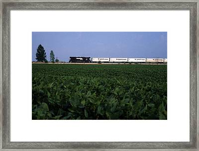 Norfolk Southern Midwest Framed Print by Susan  Benson