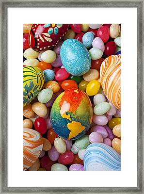 North America Easter Egg Framed Print by Garry Gay