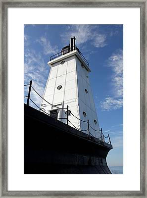 North Breakwater Framed Print by Sheryl Burns