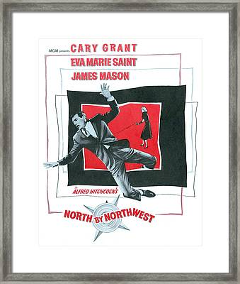 North By Northwest, Cary Grant, Eva Framed Print by Everett