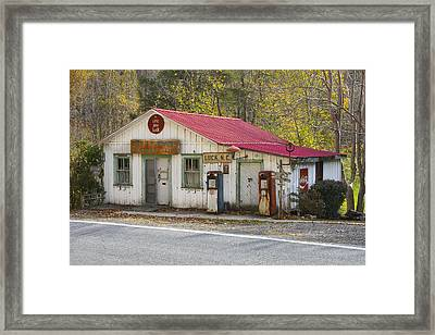 North Carolina Country Store And Gas Station Framed Print by Bill Swindaman